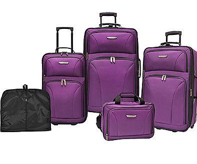 $79.99 5-Piece Traveler's Choice Versatile Luggage Set