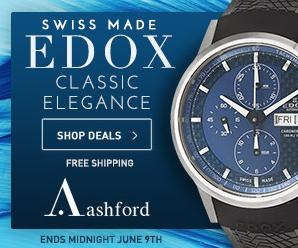 Up to 84% off + free shipping Edox Sale @ Ashford