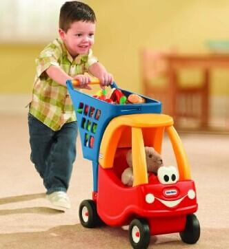 $25.49 Lowest Price Ever! Little Tikes Cozy Shopping Cart Red/Yellow