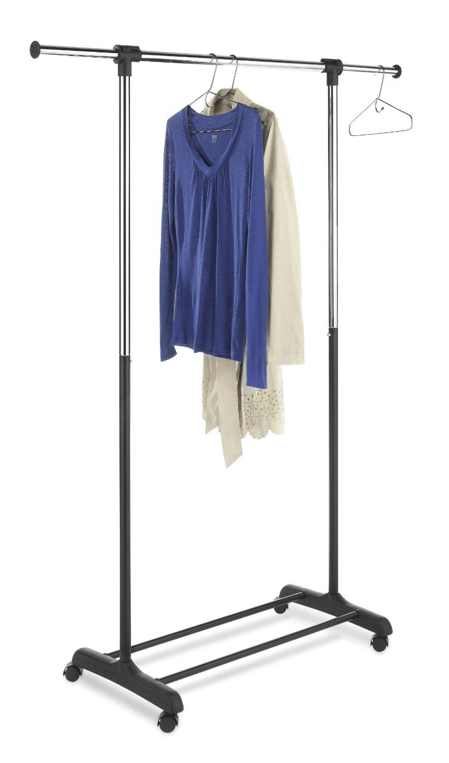 $12.59 Whitmor 6021-4298 Ebony Chrome Collection Extendable Garment Rack