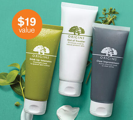 Free Mask Sample with Orders over $35 @ Origins