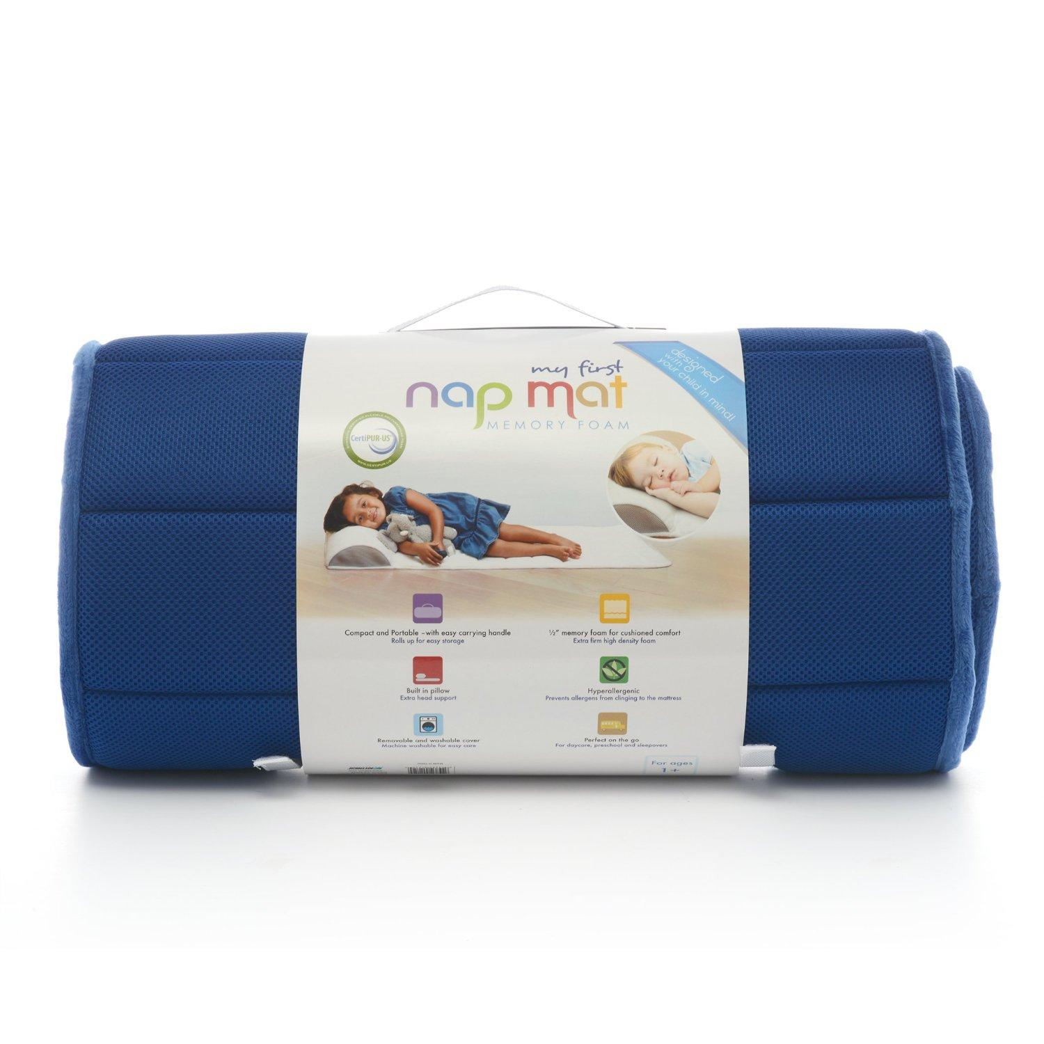 My First Memory Foam Nap Mat with Removable Pillow,