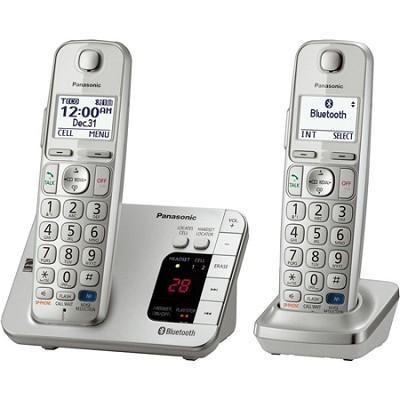 $45 Panasonic KX-TGE262S Link2Cell Bluetooth Enabled Phone with Answering Machine