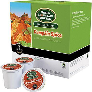 $6.99 Keurig® K-Cup® Green Mountain® Pumpkin Spice Coffee, Regular, 24/Pack