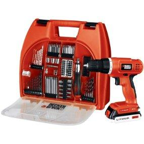 $62.99 Black &Decker BDC120VA100 20-Volt MAX Lithium-Ion Drill Kit with 100 Accessories
