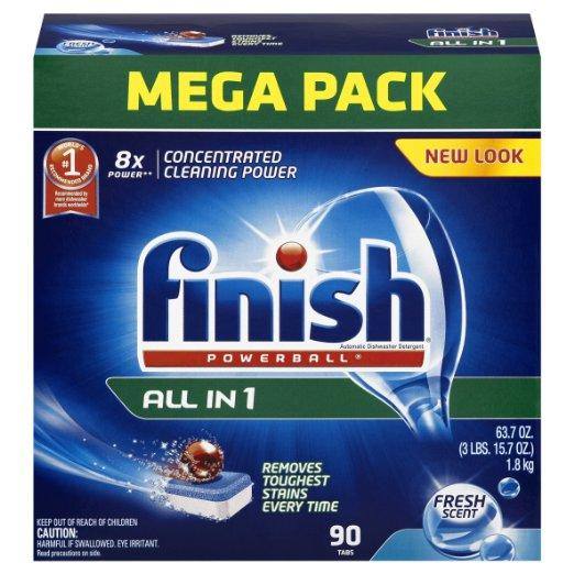 #1 Best Seller! $10.99 + Free Shipping Finish Powerball Tabs Dishwasher Detergent, Fresh Scent, 90 Count