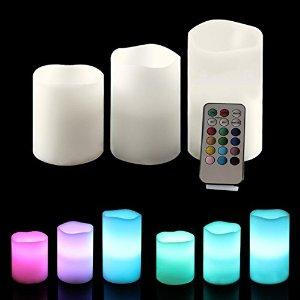 $14.99 Ohuhu Real Wax Battery-Powered Flameless Candles / Color Changing Candles / LED Tealight Candles, 3-Pack