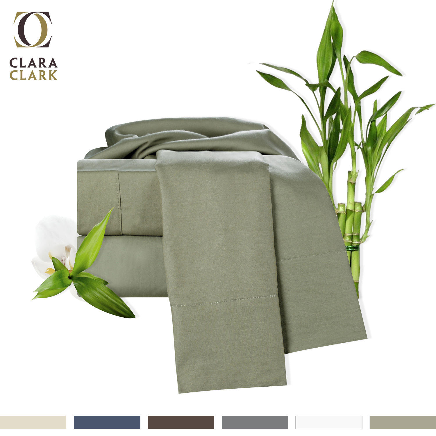 $39.99 100% Bamboo Cotton 4 Piece Deep Pocket Bed Sheet Set - 100% Organic!