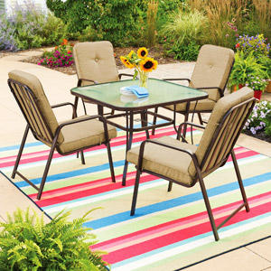 $169 Mainstays Lawson Ridge 5-Piece Patio Dining Set