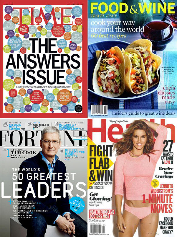 Only $5 Each!  Any Time Inc. Magazine Subscription