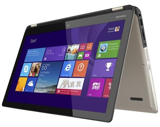 "$459.99 Refurb Toshiba Satellite Radius Core i5 2-in-1 15.6"" Touchscreen Laptop P55W-B5220"