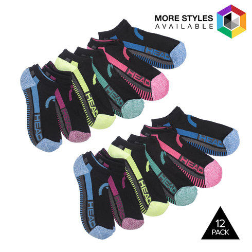 12-Pack of HEAD Women's Moisture Wicking Socks