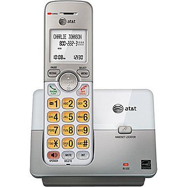 $17.99 AT&T EL51103 DECT 6.0 Expandable Cordless Phone with Caller ID/Call Waiting, Silver, 1 Handset