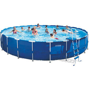 "$499 Intex 24' x 52"" Metal Frame Swimming Pool"