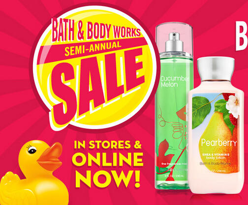 Up to 75% Off + Up to Extra $20 Off Bath & Body Works Semi-Annual Sale
