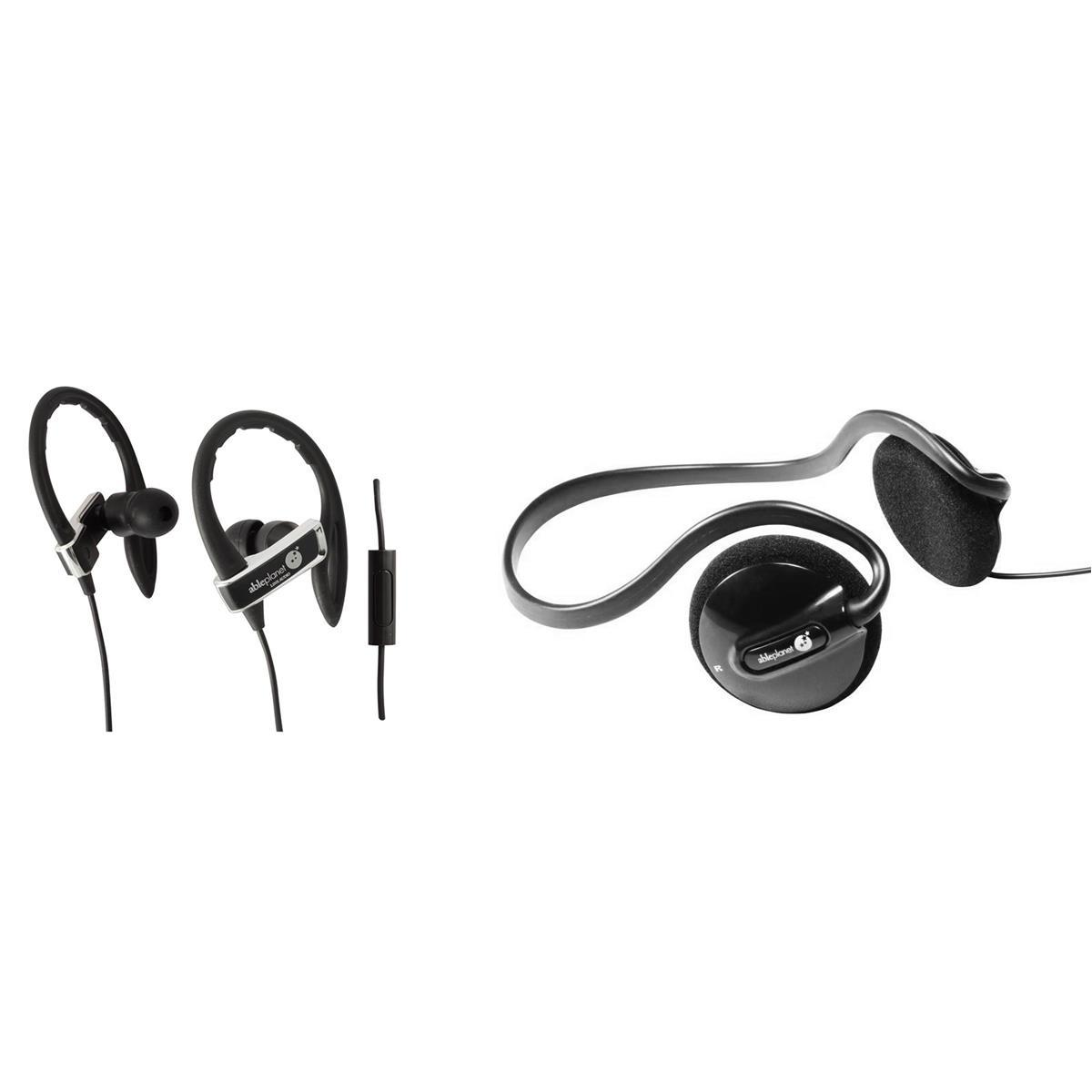 Able Planet SI350 True Fidelity Earphones with PS200BHB Headphones Bundle