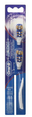 $2.82 Oral-B 3D White Action Replacement Toothbrush Heads, 2 Count