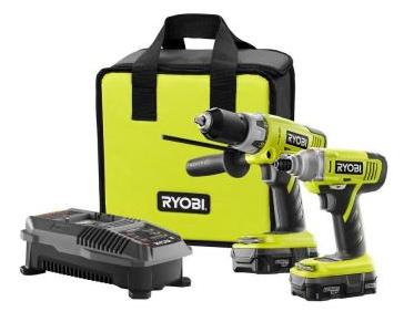 Ryobi 18-Volt ONE+ Lithium-Ion Hammer Drill and Impact Driver Kit