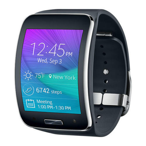 $169.99 Samsung Galaxy Gear S R750A Smart Watch w/ Curved Super AMOLED Display (AT&T) - Refurbished