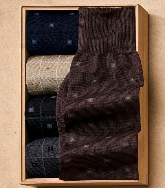 $2.99A pair of Jos. A. Bank Men's Windowpane Boxes Over-the-Calf Socks