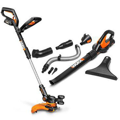 $119.99 WG951.4 20V 2.0 3-in-1 Grass Trimmer + Air Blower Set w/ 2 Batteriesby Worx