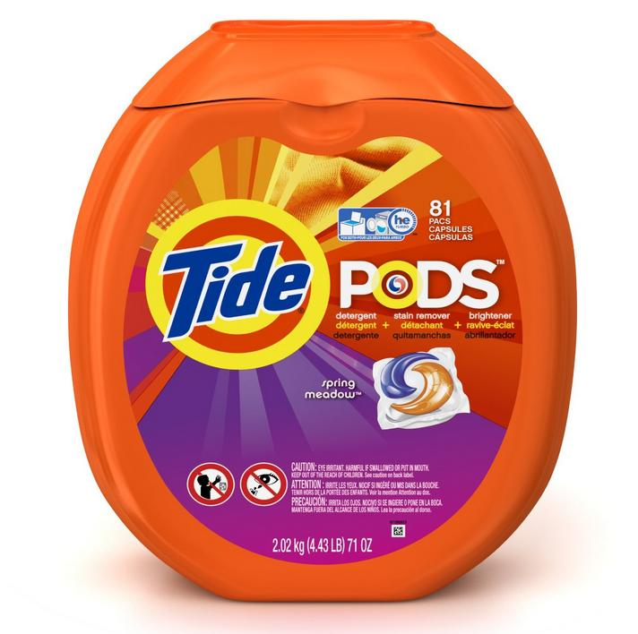 $15.23 Tide Pods Laundry Detergent Packs Tub, Spring Meadow, 81 Count