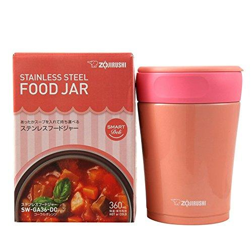 $27.55 Zojirushi SW-GA36-DC Stainless Steel Food Jar, Coral Orange