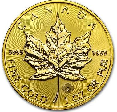 1oz Gold Canadian Maple Leaf Coin