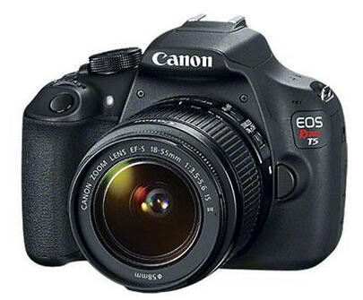 $449 Canon EOS Rebel T5 DSLR Camera with EF-S 18-55mm f/3.5-5.6 IS II Lens - Special Promotional Bundle