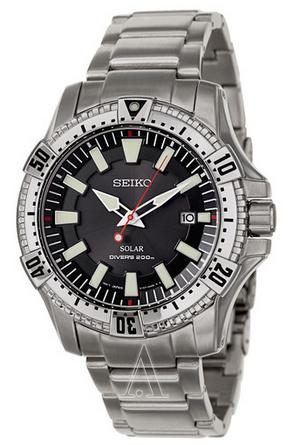 $125 Seiko Men's Prospex Solar Diver Watch SNE279