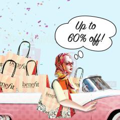 Up to 60% OffSemi-Annual Sale @ Benefit Cosmetics