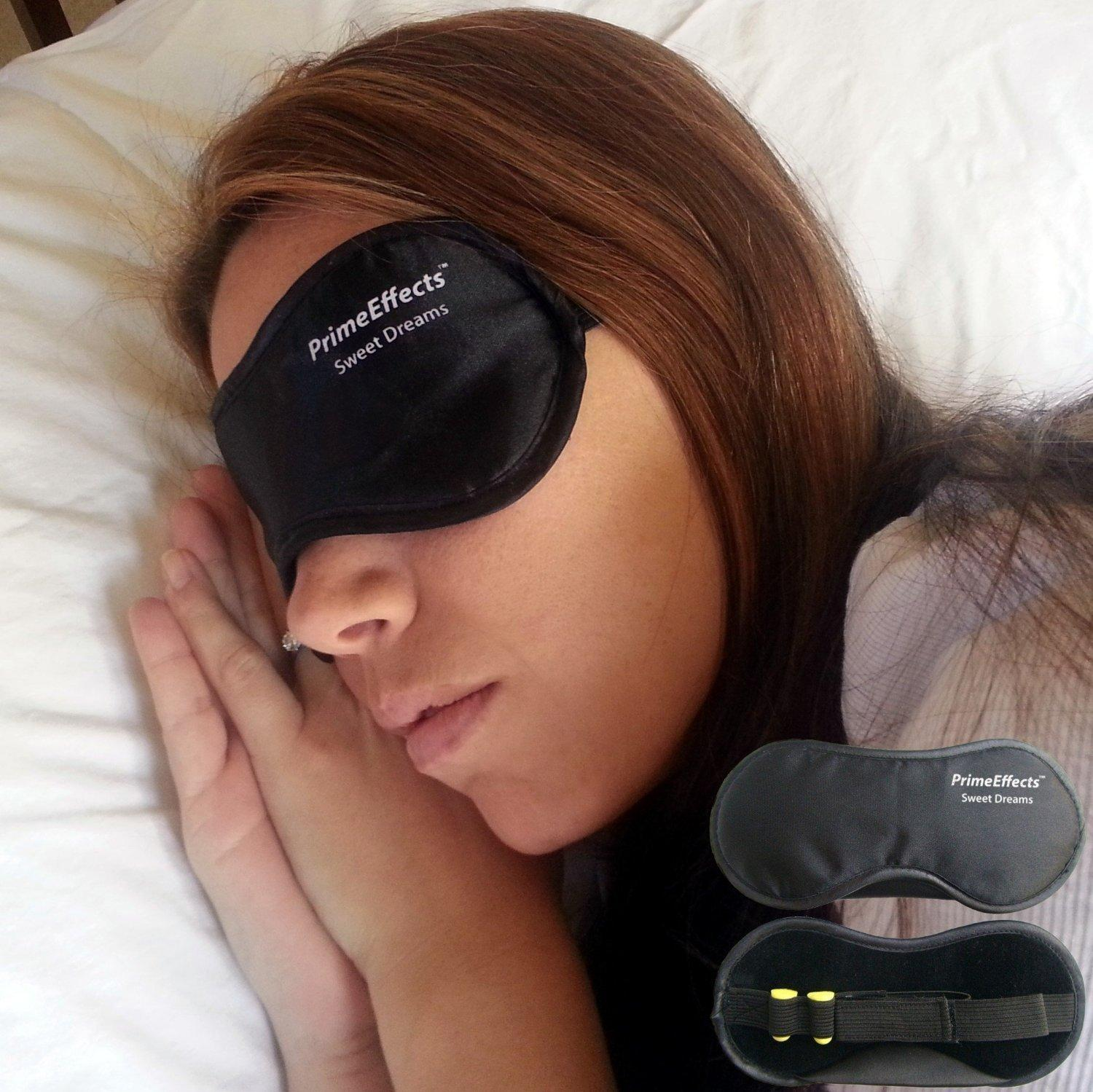 PrimeEffects Sweet Dreams Sleep Mask with Ear Plugs