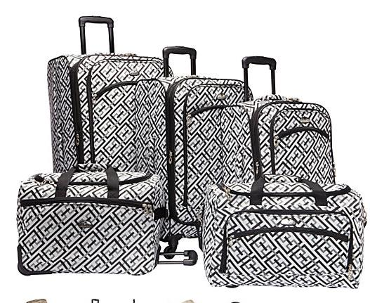 $146.19 American Flyer Gold Coast 5-Piece Luggage Set