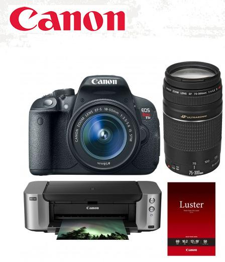 Canon EOS Rebel T5i DSLR Camera with 18-55mm Lenses Special Promotional Bundle