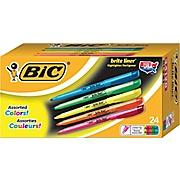 $4 BIC Brite Liner Highlighters, Assorted Colors, Value Pack, 24/Pack