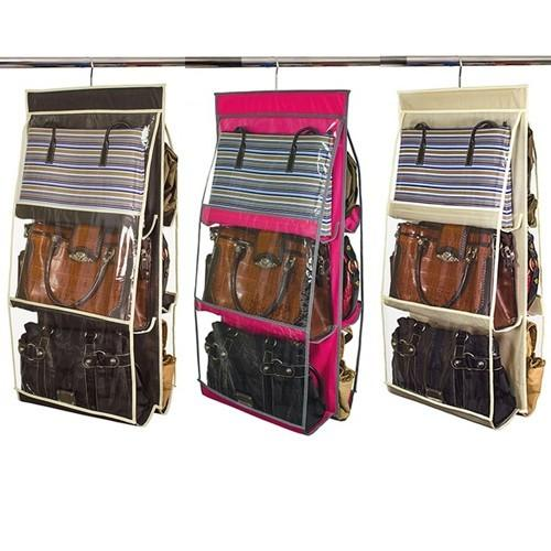 $7.99 Home Collections 6 Pocket Hanging Purse Organizer