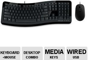 $4.99 Microsoft® Comfort Curve Desktop 3000 Keyboard and Mouse