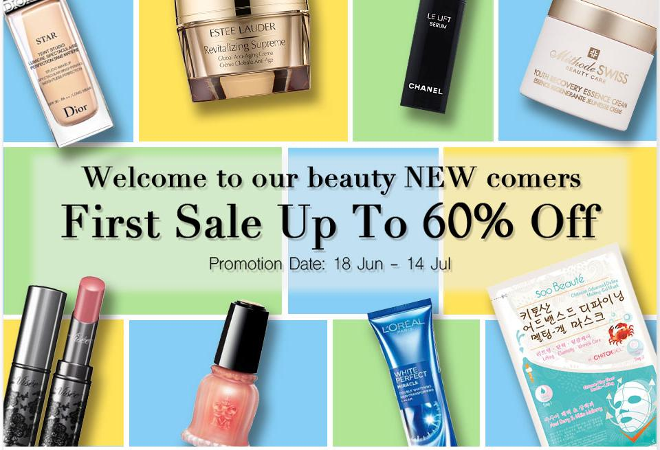 Up to 60% Off Beauty New Comers First Sale @ Sasa.com