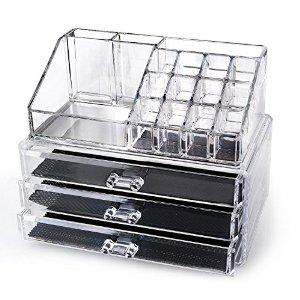 Free Home-it® Clear acrylic makeup organizer cosmetic organizer and Large 3 Drawer