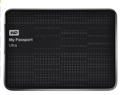 WD My Passport Ultra Portable External USB 3.0 Hard Drive, 1TB