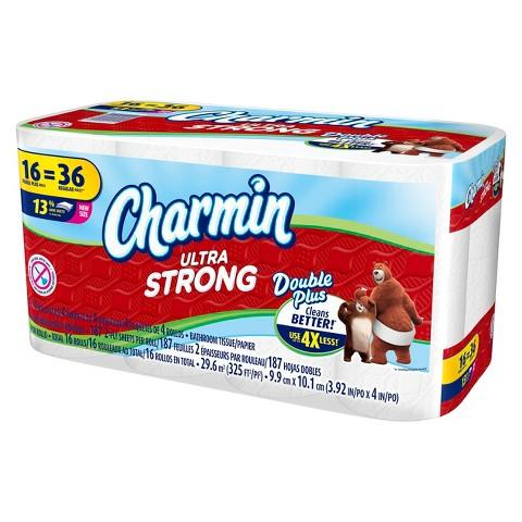 Only $29.97 4 x Charmin Ultra Strong™ Toilet Paper 16 Double Plus Rolls