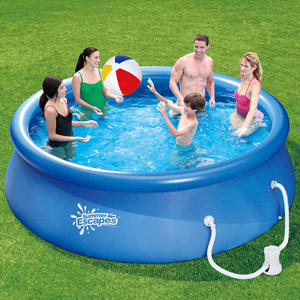 $59 Summer Escapes 12' Quick Set Ring Pool with Pump with GFCI
