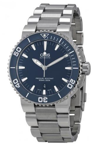 Oris Aquis Blue Dial Men's Watch 733-7653-4155MB