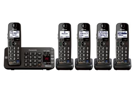 $79.99  Link2Cell Bluetooth® Enabled Phone with Answering Machine KX-TG465SK 5 Cordless Handsets