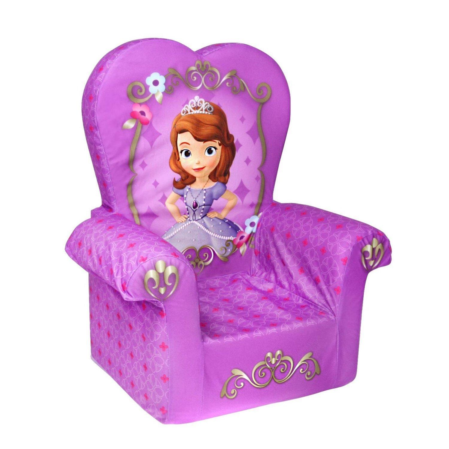 $16.99 Disney Princess Sofia The First High Back Chair Marshmallow Children's Furniture