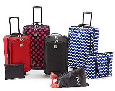 $49.97 Relativity Expandable 5-Piece Luggage Set