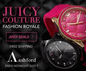 Up to 71% off + Free Shipping Select Juicy Couture Women's Watches @ Ashford