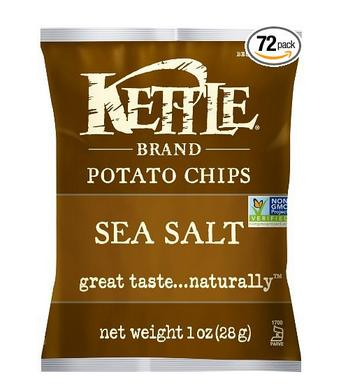 $23.5 Kettle Brand Potato Chips, Sea Salt, 1-Ounce Bags (Pack of 72)