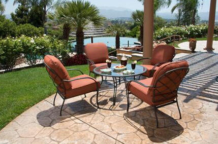 $219 Roselle 5-Piece Patio Conversation Set, Seats 4
