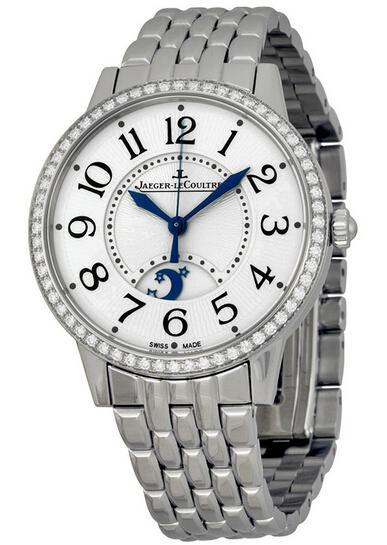 $9695 Jaeger LeCoultre Rendez-Vous Silver Dial Stainless Steel Diamond Ladies Watch Q3448120